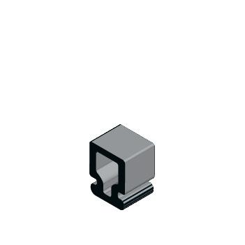 Guarnição em Borracha Vedação Esquadrias gua 003 3d Icilegel